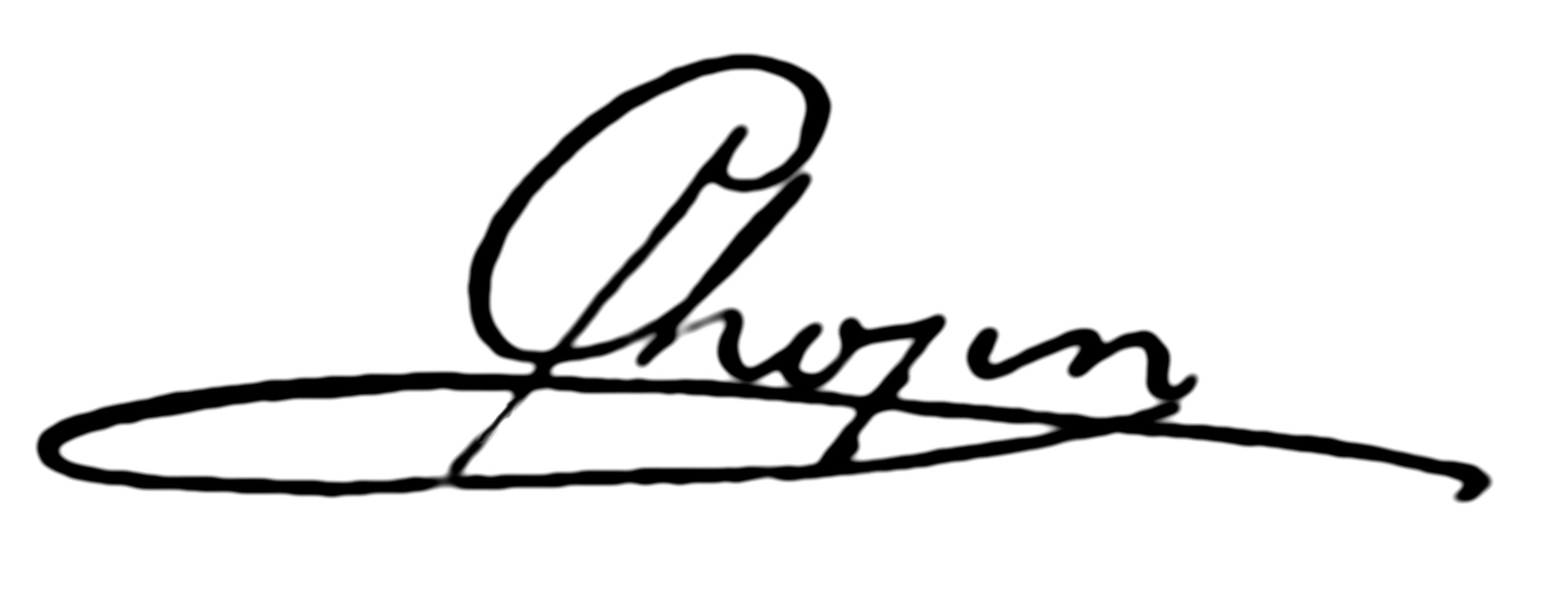 F._Chopin_-_podpis